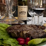Florentine steak and wine Chianti Classico